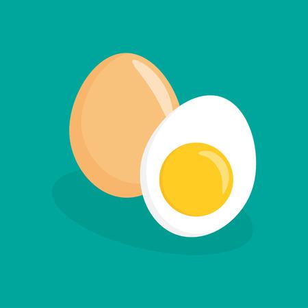 Eggs flat icon, chicken egg breakfast, vector illustration 矢量图像