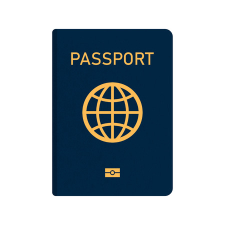 International passport with biometric data. Document. Vector illustration