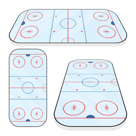 Ice hockey field isolated on white background
