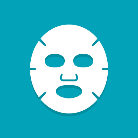 Icône plate de masque facial. Médecine, cosmétologie et soins de santé. Design plat d'illustration vectorielle