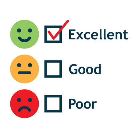 Customer Service Satisfaction Survey Form illustration. Stock Illustratie