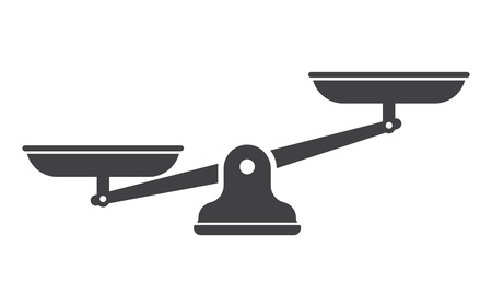 Scales, Flat design, Libra, vector illustration isolated on white background Vektorové ilustrace
