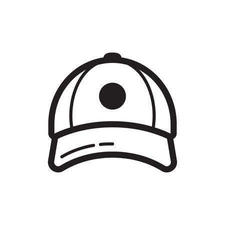 Baseball cap icon. Flat style design. Sportive headwear, uniform. Vector illustration, isolated on background Vettoriali
