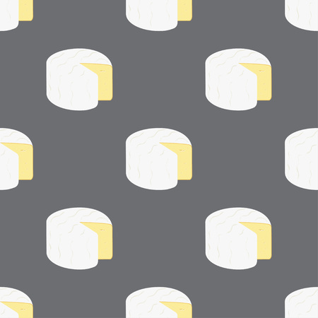 Seamless pattern with cheesecamper head on dark, cheesy background for any design, product wallpapers