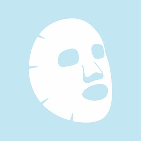 Icône plate de masque facial. Médecine, cosmétologie et soins de santé. Design plat d'illustration vectorielle Vecteurs