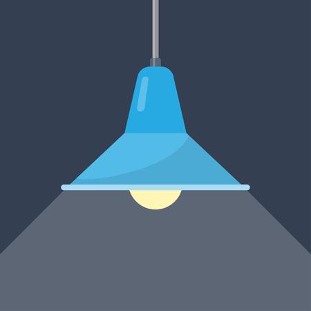 Hanglamp. Plafondlamp in loftstijl. Element van interieur. vector illustratie Vector Illustratie
