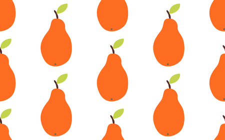 Seamless pattern with pears. Vector illustration in cartoon style. Stock Vector - 127721060