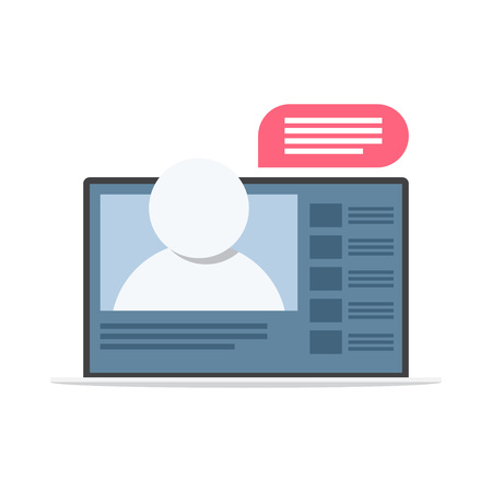 Webinar icon, online training. Online consulting Vector illustration Stock Vector - 127721061