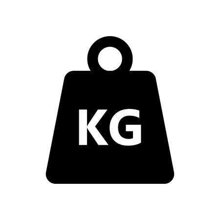 Weight kilogram icon on white background. Vector illustration Illustration