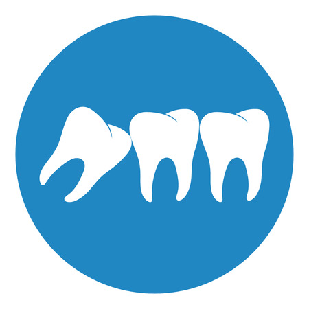 Wisdom Teeth icon. Toothache, jaw pain Vector illustration