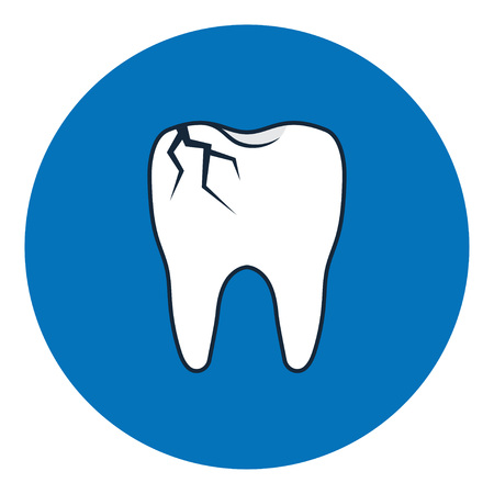 Broken tooth icon. Dental Problem. Cracked tooth. vector illustration