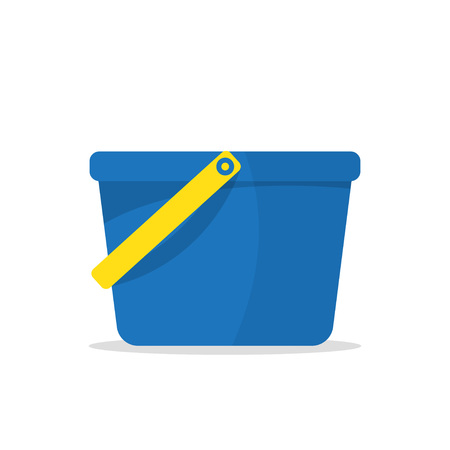 Garden bucket icon. Bucket with water isolated on white background. Vector illustration