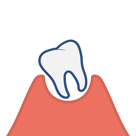 Loose tooth icon. Vector Illustration isolated on white background