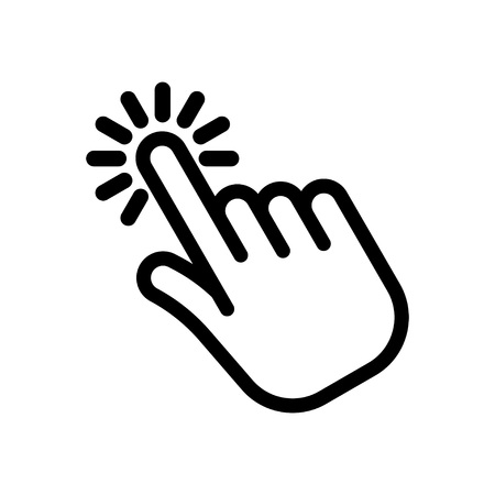 Cursor pointer. Hand clicking icon. Clicking finger. Vector Illustration. Isolate on white background Reklamní fotografie - 124818101