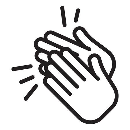 Applaus-Symbol. Klatschende Hände, Ovationen jubeln Vektorillustration