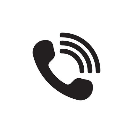 Handset with waves. Call Icon. Telephone signal. Online support sign. Vector illustration Ilustração