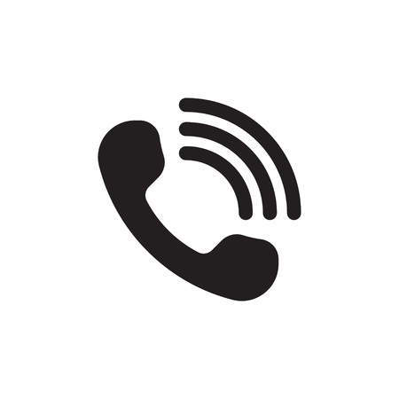 Handset with waves. Call Icon. Telephone signal. Online support sign. Vector illustration Illustration