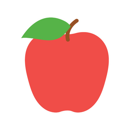 Red apple icon. Vector illustration on white background