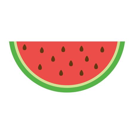 Ikona arbuza w stylu płaski. Ilustracja wektorowa, izolowana na białym tle