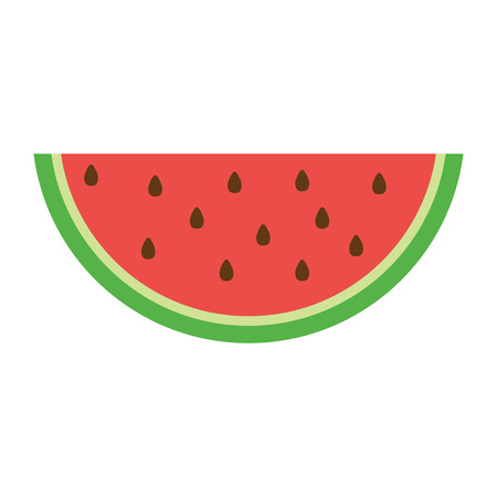 Watermelon icon in a flat style. Vector illustration, isolated on white background