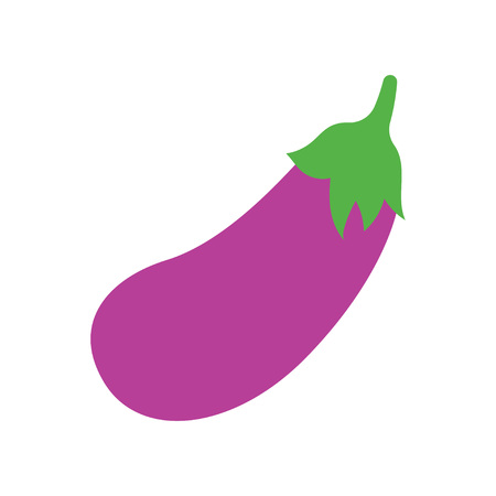 Eggplant vegetable icon. Vector illustration isolated on white background