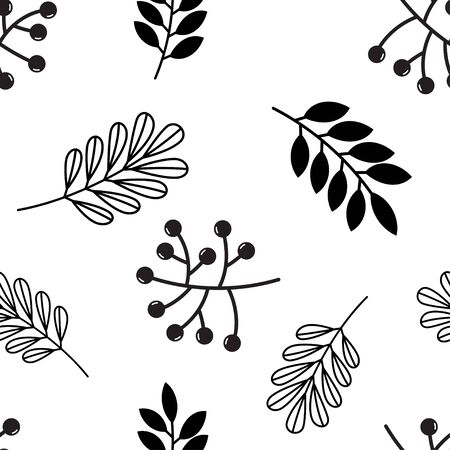 Seamless pattern with autumn leaves and acorns. Thanksgiving. Vector illustration