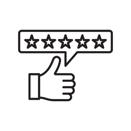 Ranking. Five star rating icon. Customer excellent review and feedback. Vector illustration  イラスト・ベクター素材