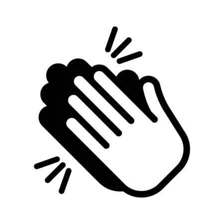 Hands clapping icon. Applause. Clap, plaudits, standing ovation symbol Vector illustration