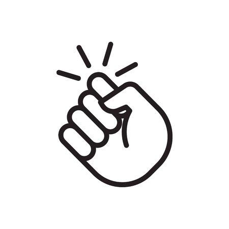 Klopfen am Türsymbol. Hand, die an die Tür klopft. Vektor-Illustration