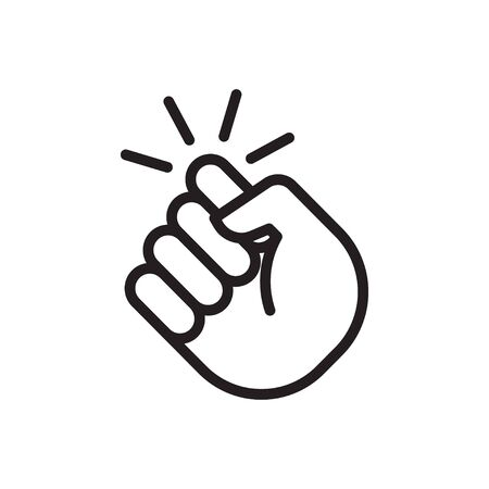 Knocking on door icon. Hand that knocks on the door. Vector illustration  イラスト・ベクター素材