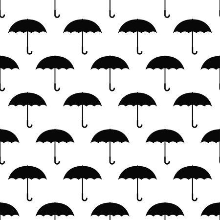 Autumn seamless pattern with umbrellas. Vector illustration Illustration
