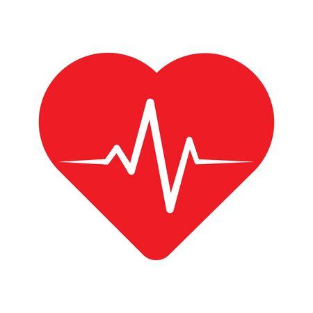 Heartbeat line in heart.