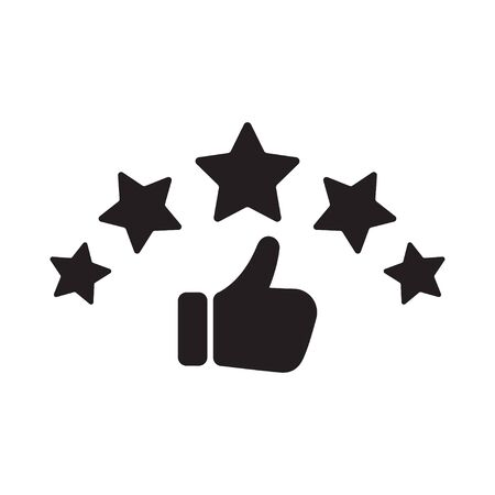 Rating of consumer satisfying. Customer review icon. Vector illustration