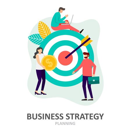 Business strategy. Planning and solution concept. Business people. Vector illustration Illusztráció