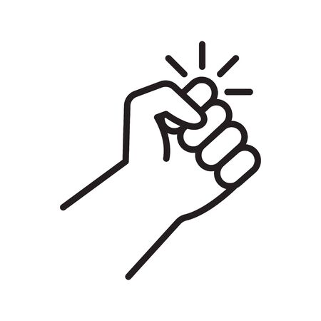 Knocking on door icon. Hand that knocks on door. Vector illustration.