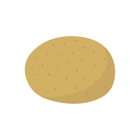 Raw potato vegetable icon. illustration, isolated on white background. Ilustração