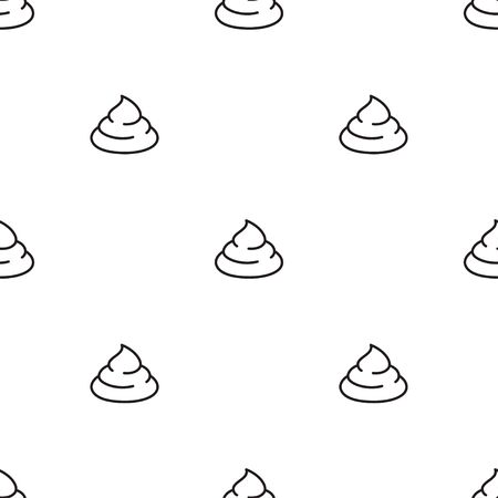 poop seamless pattern isolated on white background, simple flat design, vector illustration