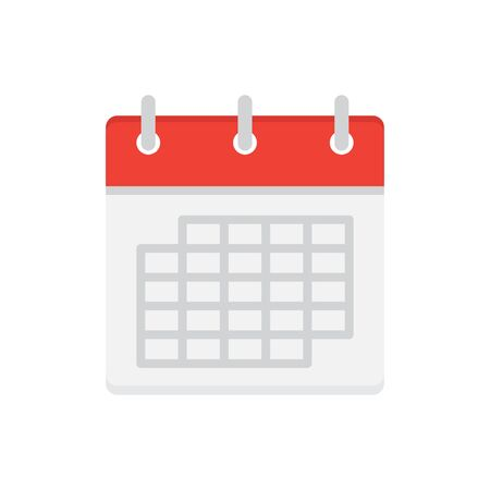 Calendar flat icon, date, day, event, schedule. Vector illustration isolated on white background