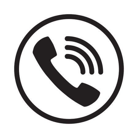 Call icon vector. Noisy phone calling symbol. Vector illustration Isolated on white background. Illusztráció