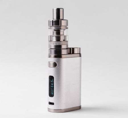 electronic cigarette or vaping device on white background Standard-Bild - 105827962