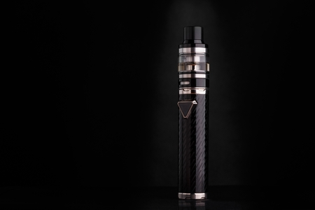 electronic cigarette on a black background in the studio 版權商用圖片