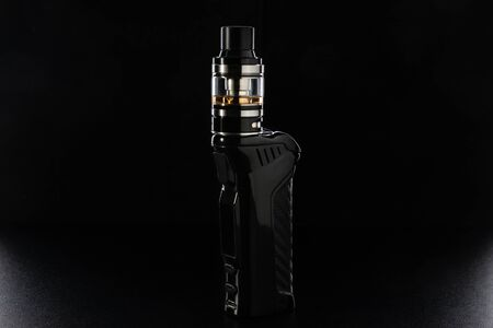 Electronic cigarette or vaping device on black
