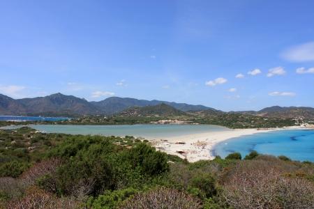 Villasimius, porto giunco beach 版權商用圖片