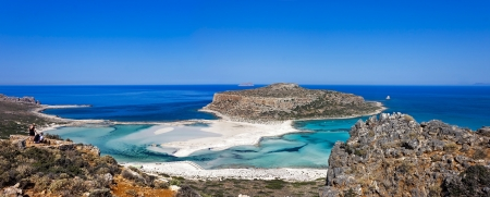 the beautiful Balos beach, Granvoussa, Crete island photo