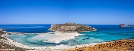 the beautiful Balos beach, Granvoussa, Crete island