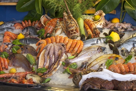crustaceans: seafood, crustaceans and fish