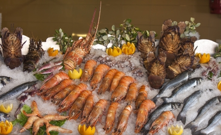 seafood, crustaceans and fish