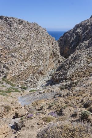 kreta: Traxoulas canyon  Lendas , Crete  Stock Photo