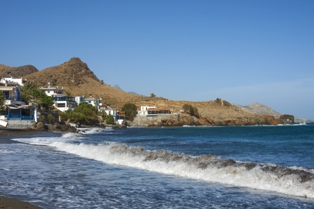 the beautiful panorama at Lendas, Crete Stock Photo
