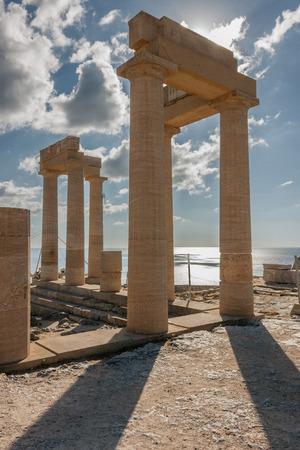 lindos: Temple of Athena Lindia at Lindos, Rhodes, Greece